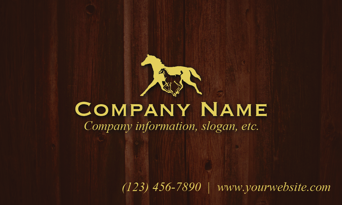 Equine Business Card Template 1