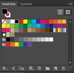 Use your swatches panel to pick a font color.