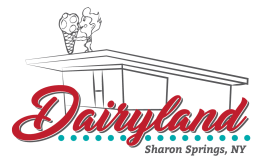 Logo for Dairyland of Sharon Springs, NY.