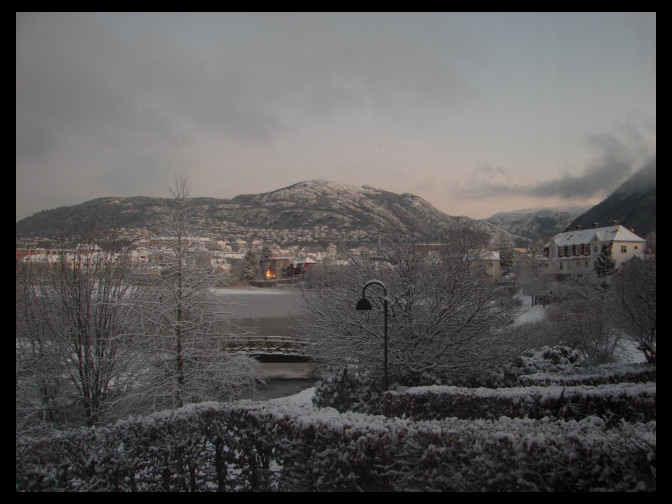 Snow covered Ulriken