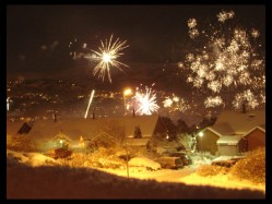 January 1, 2010 - New Year's Eve fireworks in Bergen