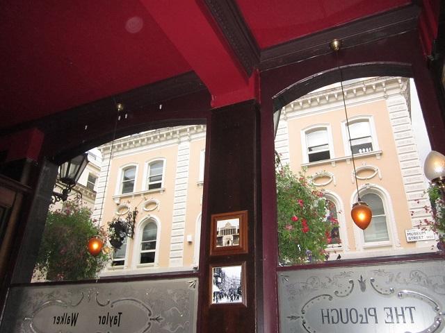 The Plough pub windows