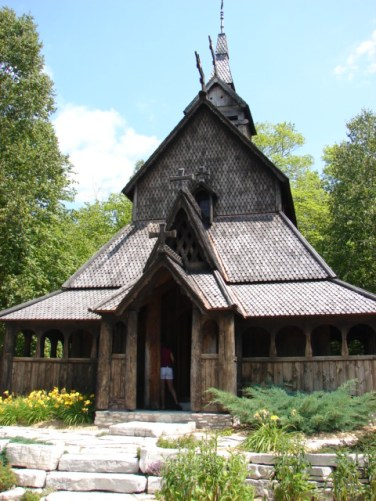 Stave church on Washington Island, Wisconsin