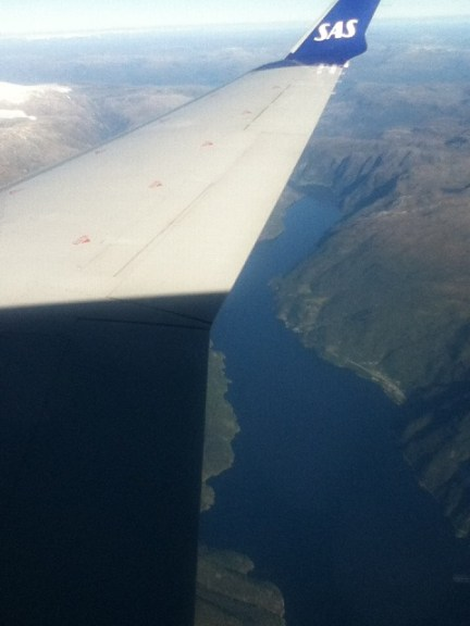 Sørfjorden, Norway from the air