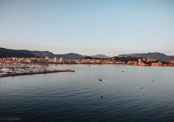 vue sur la ville d'Ajaccio