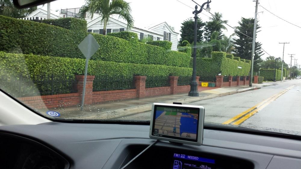 Palm Beach, FL...home of sculptured hedges. (6/6)
