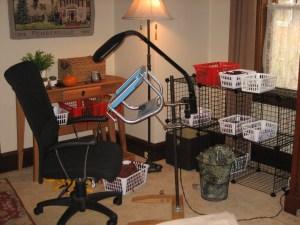 Setup for hooking a large rug