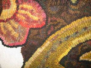 Day 434 room sized hooked rug background step 4