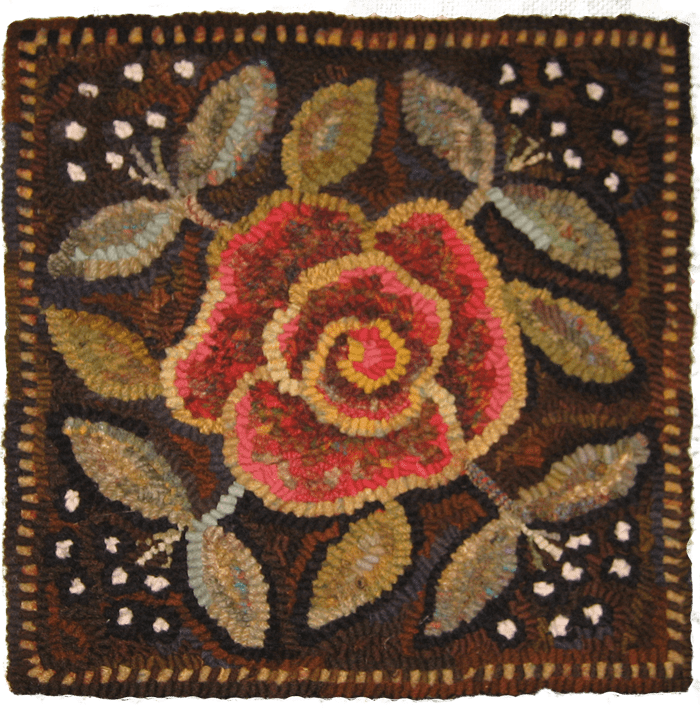 ATHA Square rug hooked square