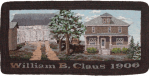 Claus Homestead rug hooked mat