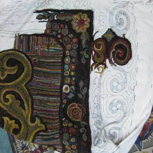 Border design for room sized rug by Cindi Gay