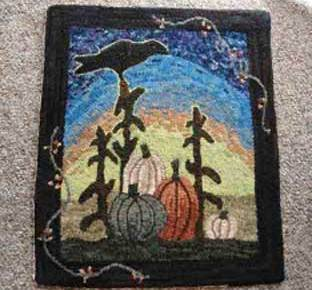 Mala Jones pumpkin rug