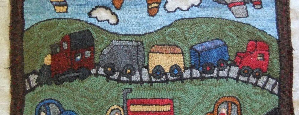 The big rug hooking question: Should I outline or not?