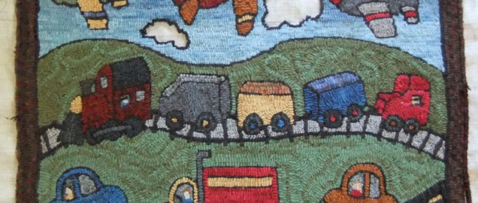 The big rug hooking question: Should I outline or not?
