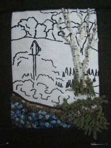 Hooked birch tree