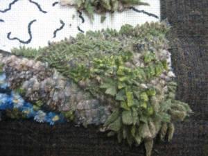 Shagging, a rug hooking creative stitch