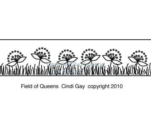 Field of Queens stair riser rug hooking pattern