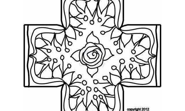 Rosenweeds footstool rug hooking pattern by Cindi Gay