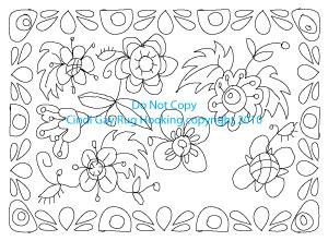 Step 2: Floral Rug Pattern Design Progress