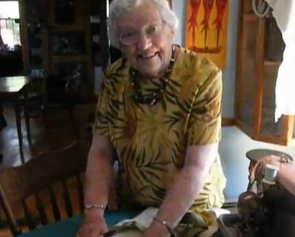 Doris Eaton demos the Eaton Edge