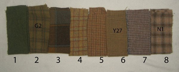 Color planning for rughooking pattern, Oak and Acorns