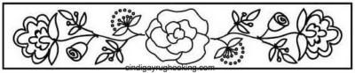 Ann Arundel Rose rug hooking pattern