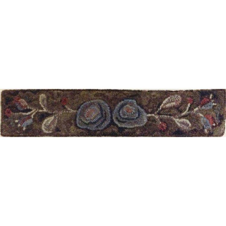 Minna's Roses Stair riser rug hooking pattern by Cindi Gay