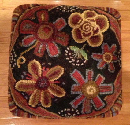 Annie's Flower Power, hooked by Barb Lindh