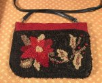 Pencil pouch purse hooked by Jo Wick, buy the pencil pouch at Cindigayrughooking.com