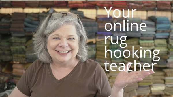 Your online rug hooking teacher.  Learn rug hooking at your own pace.