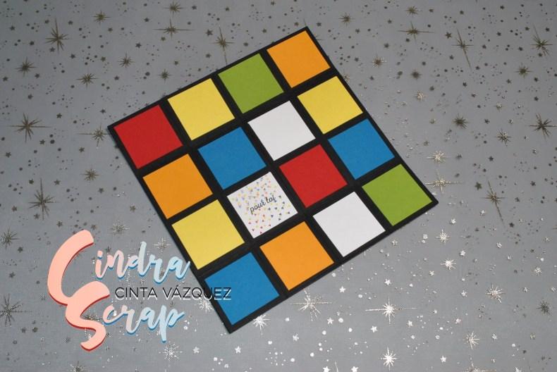 Carte Rubik's cube à l'infinie