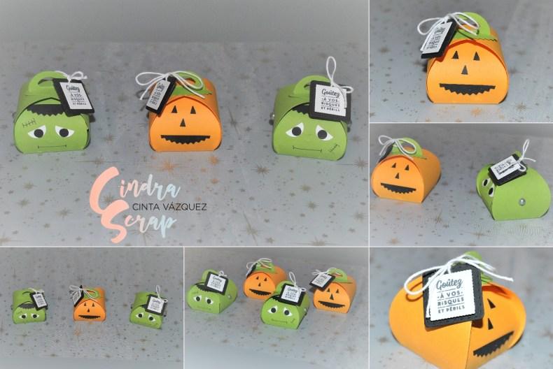 Boîtes à souvenir arrondies Halloween