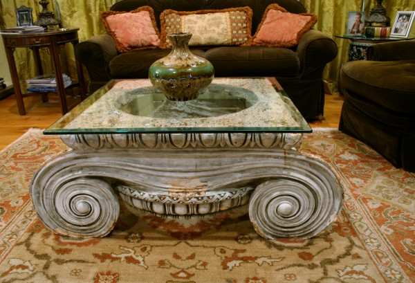 coffee table in living room