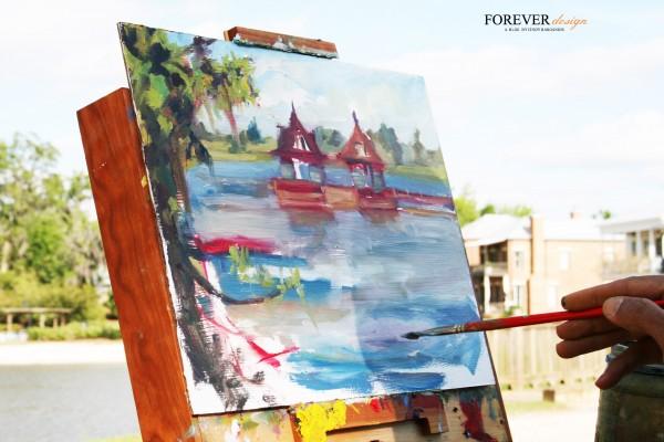 plein air water painting