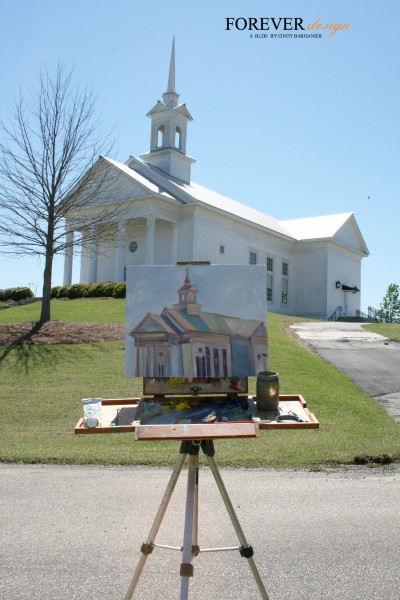 james sampsel paints the chapel at the waters