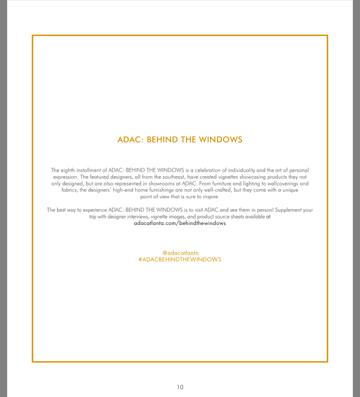 Behind The Windows at ADAC