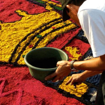 Comayagua's Sawdust Carpets Celebrate Easter