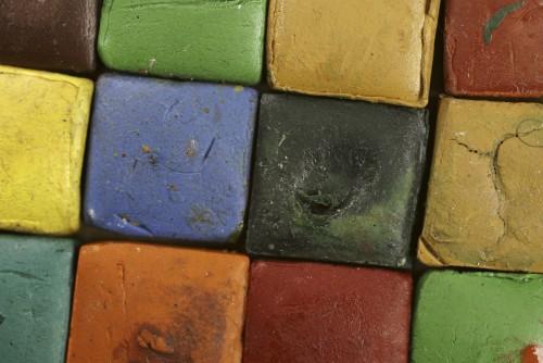 photo of watercolor blocks