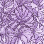 drawing of purple leaves