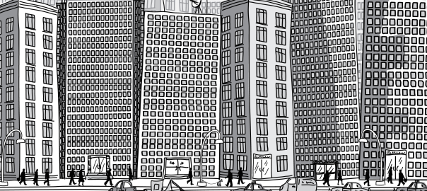 drawing of NYC building