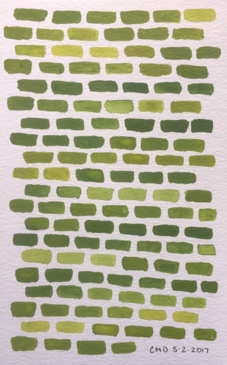 Painting of chartreuse bricks