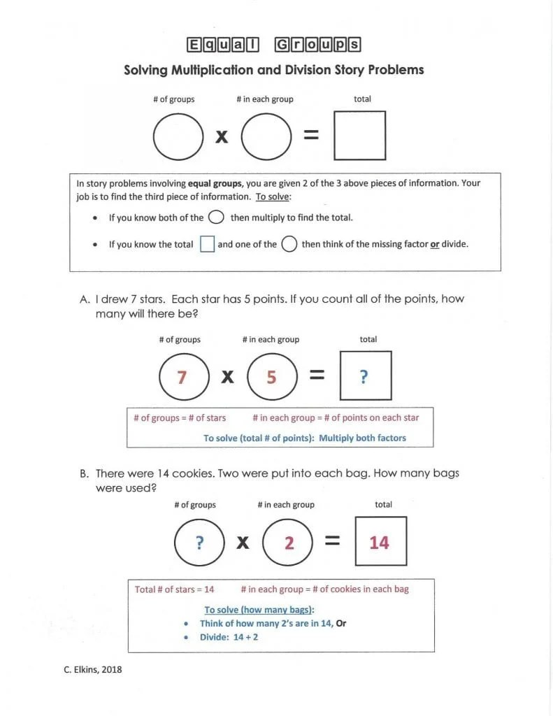 What Is Equal Groups In Math : equal, groups, Problem, Solving, Equal, Groups, Reading