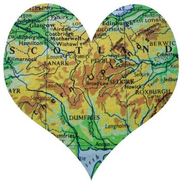 scotland map heart e