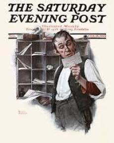 Norman Rockwell Sorting the Mail