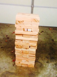 Lolas shower games Jenga