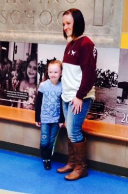 Aubrey soars with mom