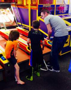 Chuck E Cheese Nate and the boys