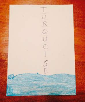 Mail art turquoise Aubrey