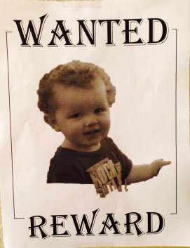 Westons second birthday wanted poster
