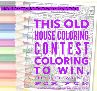 This Old House Coloring Contest